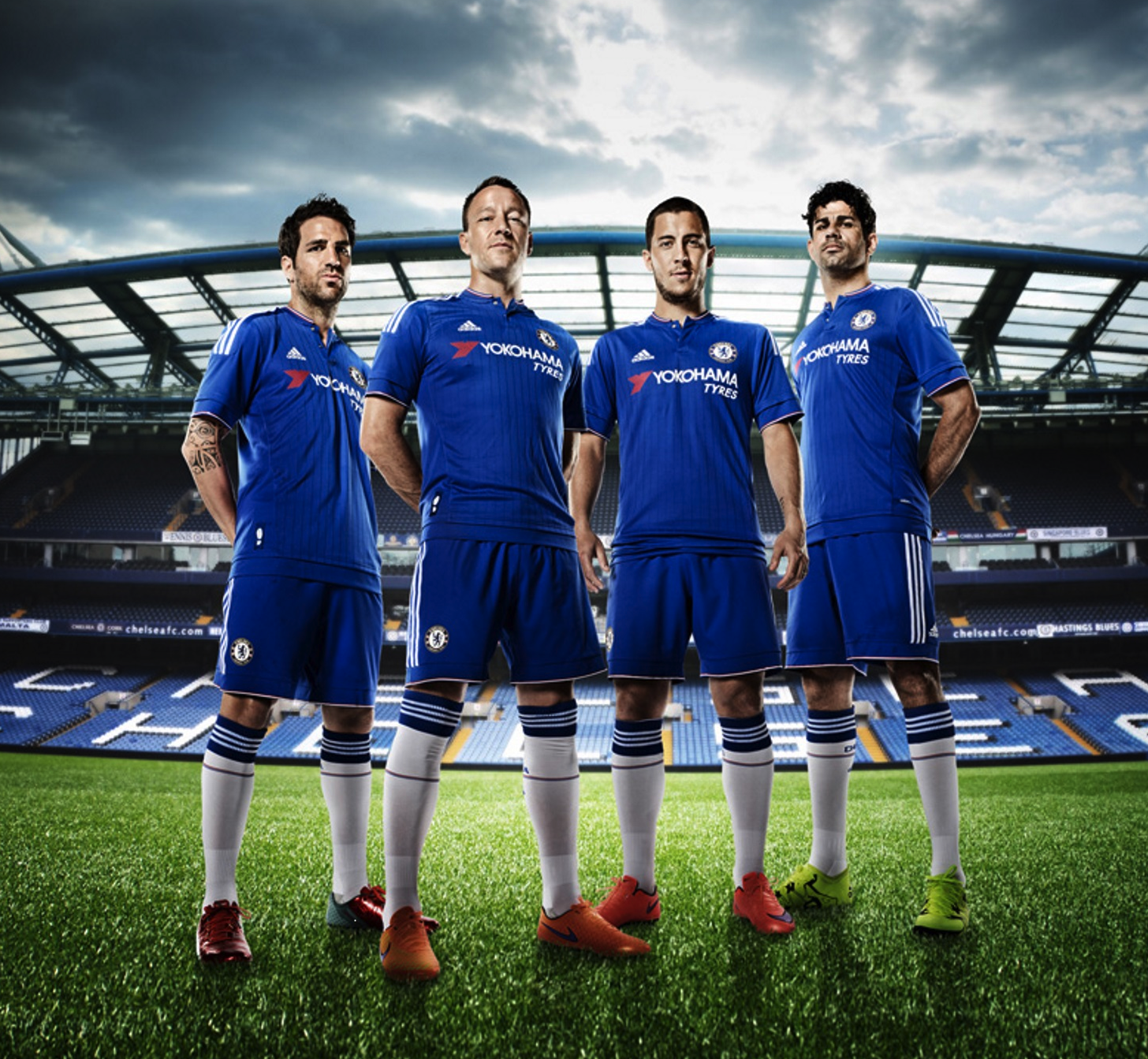 "Chelsea Football Club Unveils New Uniform with ""YOKOHAMA TYRES"" Logo"